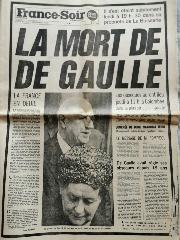 journal France Soir 11/11/1970