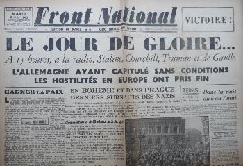 Journal FRONT NATIONAL 08/05/1945