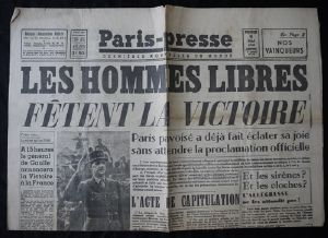 Journal PARIS PRESSE 09/05/1945