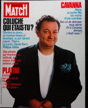 PARIS MATCH 1986 COLUCHE